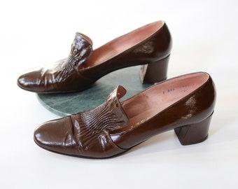 1960s Brown Heels - 8AAA