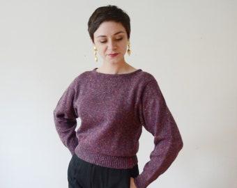 Deadstock 1970s Purple Sweater - S