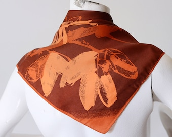 Late 70s or 80s Vera Autumn Square Scarf