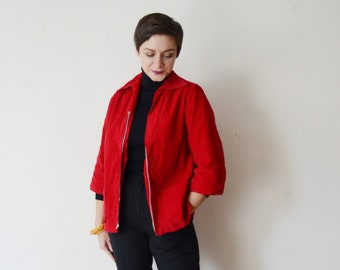 1950s Red Corduroy Shirt - M