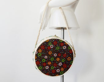 1960s Round Basket Purse