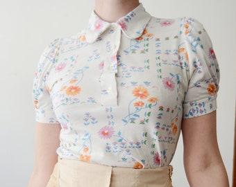 1970s Floral Shirt - S