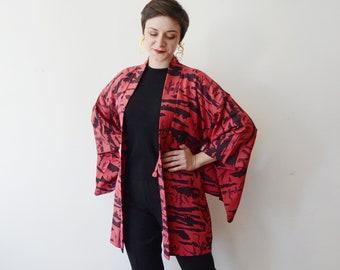 Vintage Rayon Haori Robe - S/M/L