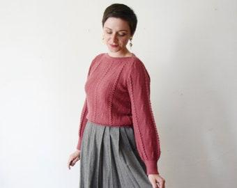 1970s Dusty Rose Sweater - S/M