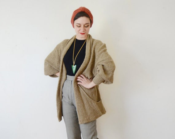 1980s Brown Long Cardigan - M/L/XL
