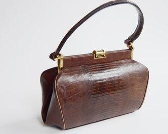 1940s Leather Handbag