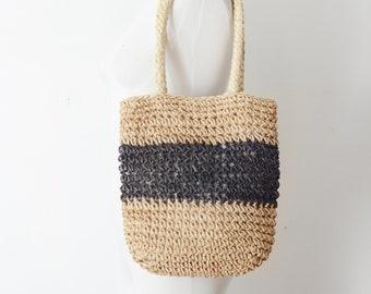 1980s Woven Market Bag