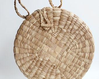 1970s Huge Round Basket Purse