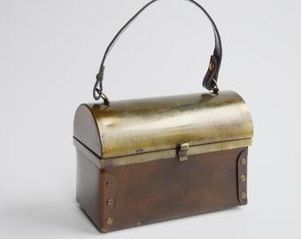 1970s Metal Lunchbox Purse