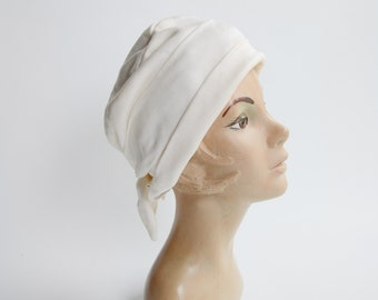 1960s White Turban Hat