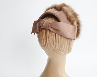 1950s Mink Fascinator Hat