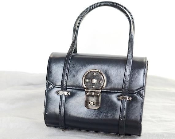 1960s Navy Saks Fifth Avenue Handbag