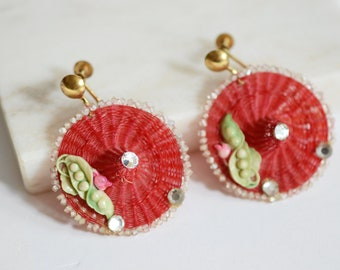 1950s Novelty Sunhat Earrings