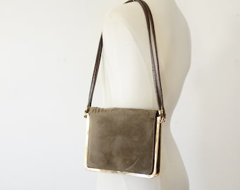1970s Brown and Brass Purse