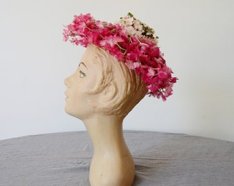 1950s Flower Whimsy Hat / Fascinator Hat