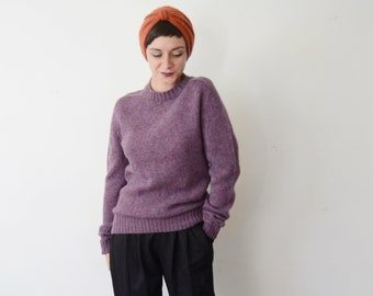 1980s Purple Wool Sweater - M/L