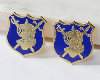 1960s/1970s Family Crest Clip on Earrings