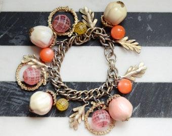1960s Metal Charm Bracelet