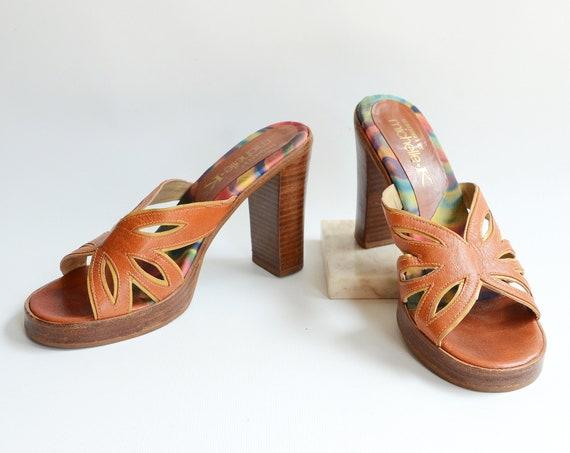 2000s Platform Leather Sandals - 7