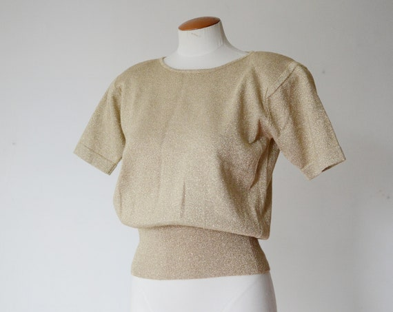 1990s Gold Jacobsons Sweater - S