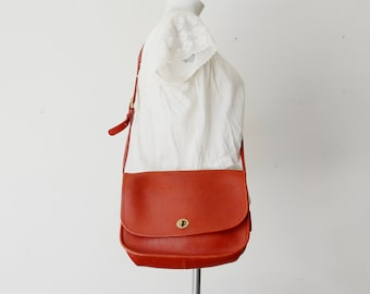 Red Leather Coach City Bag