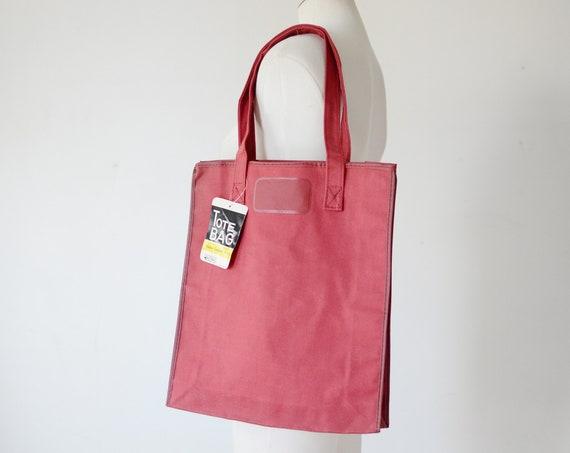 1970s Maroon Tote Bag