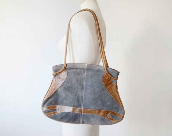1970s Large Suede Purse
