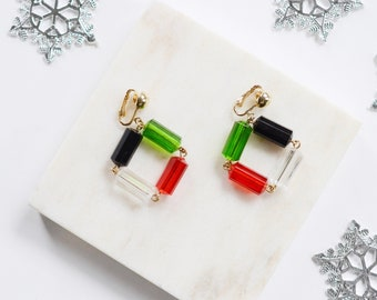 1970s Sarah Coventry Christmas Clip On Earrings