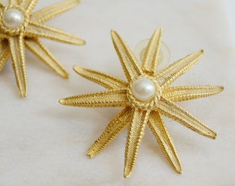 Pierced Starfish Earrings