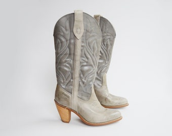 Capezio Grey Cowboy Boots - US6M