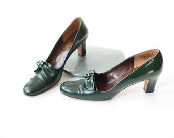 Hill and Dale 1960s Green Heels - 8AAAA