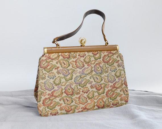 1960s Floral Tapestry Bag