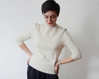 1960s Lurex Silver Sweater - S/M