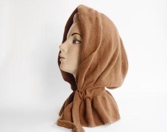 1970s Knit Hood Hat