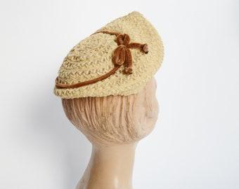 1940s Straw Cap