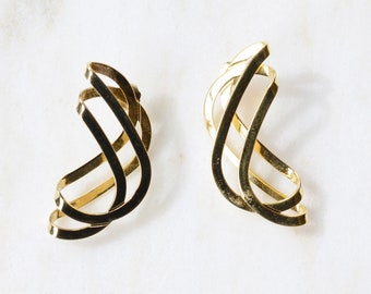 Vintage Gold Spiral Earrings