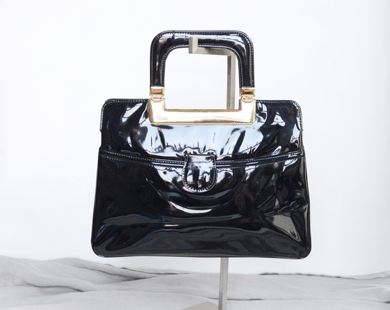 1960s Patent Mod Handbag