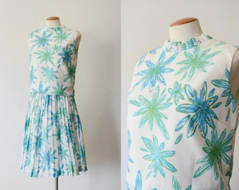 1960s Floral Blouse and Skirt - S