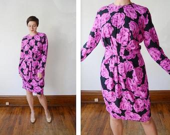 Peony 1980s Dress - M