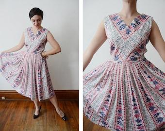 1950s Novelty Dress - M