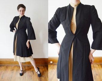 1940s Black Dress Jacket - XS