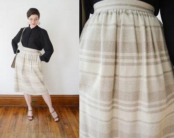 80s Beige Skirt - S/M