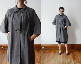 Donnybrook 1950s Grey Short Sleeve Jacket - M/L