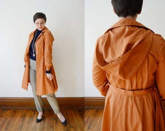 1970s Rust Trench Coat - XS/S