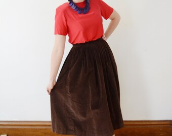 1990s Red Silk Top - S