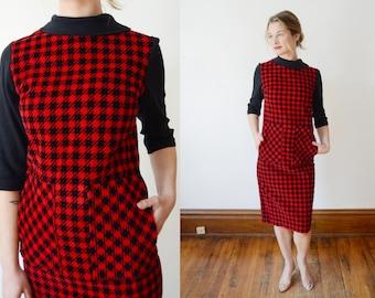 1960s Red Corduroy Dress - XS