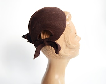 1940s New York Creation Brown Cap