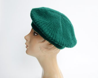 1980s Green Knit Beret