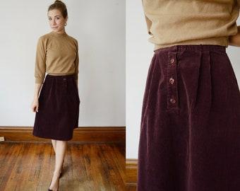 1970s Corduroy Skirt - XS