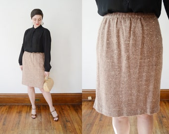 1980s Knit Sweater Skirt - M
